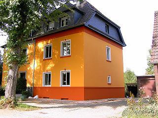 Fassadengestaltung einfamilienhaus grau orange  Malerbetrieb Sven Schmidt GmbH, Rheinberg – Malermeister-Betrieb